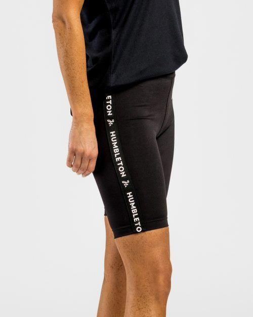Kortare tights för padel, svart med revärer