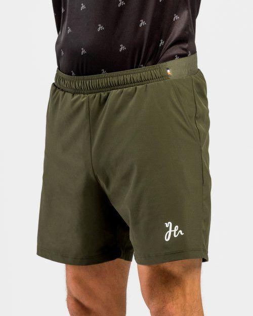 Classic Performance Padel Shorts Militärgrön Sida