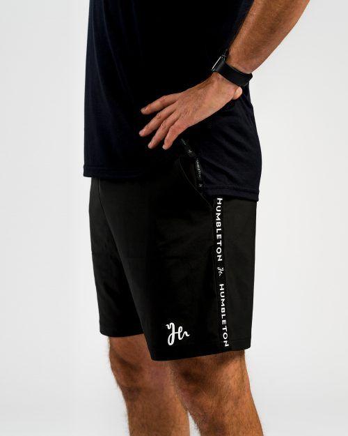 Deco Padel Shorts Black Side Front
