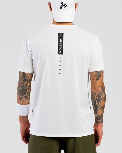 Outline Padel Tshirt White bak