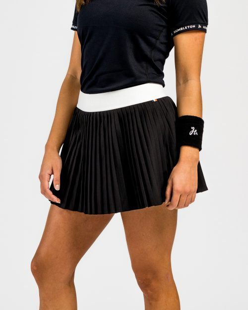 Plisserade kjol för padel svart - fram
