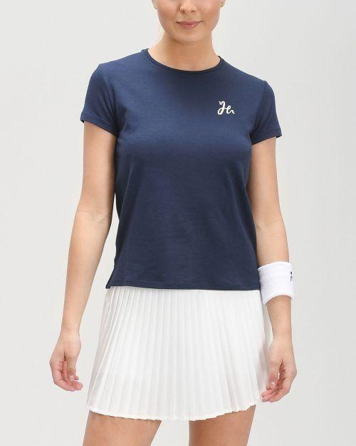 Luna Tee - Dam-tshirt för padel. Mjuk och stretchig i Obsidian Blue.