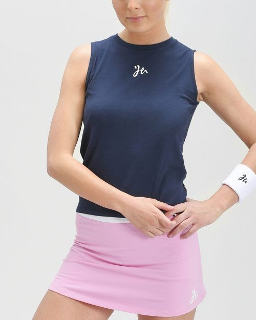 Lyla Padel Tank Top i ett mjukt stretchigt material. Mörkblå.