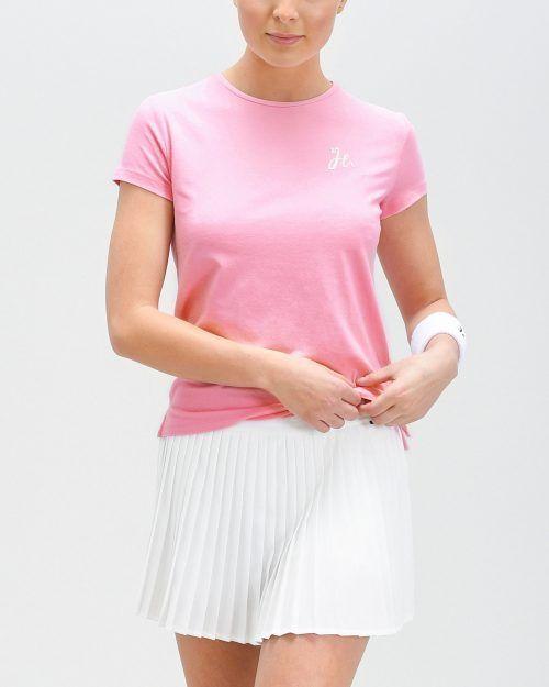 Luna Tee - Dam-tshirt för padel. Mjuk och stretchig i Azalea/Rosa.