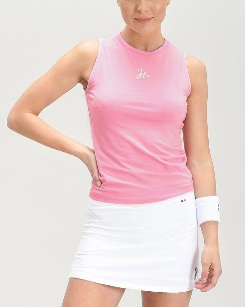 Lyla Padel Tank Top i ett mjukt stretchigt material. Azalea/Rosa.