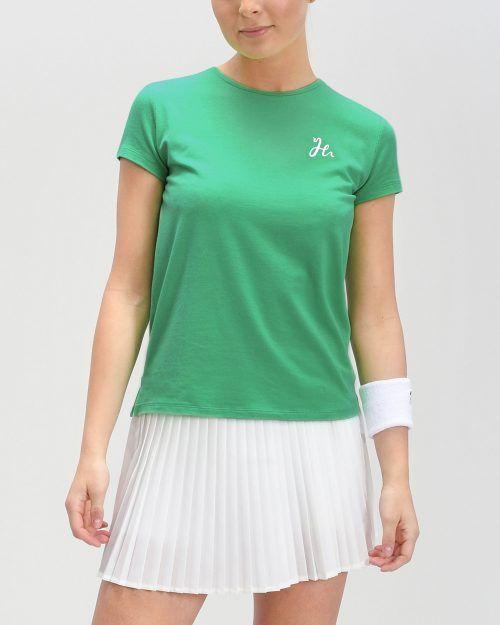Luna Tee - Dam-tshirt för padel. Mjuk och stretchig i Spring Green.