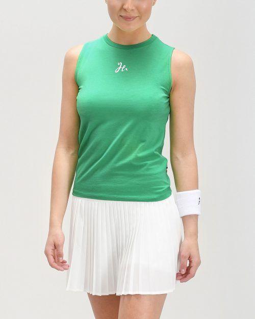 Lyla Padel Tank Top i ett mjukt stretchigt material. Möt våren i Spring Green.